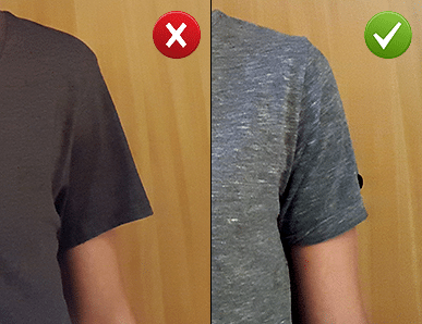 t-shirt shoulder seam loose fit vs correct fit