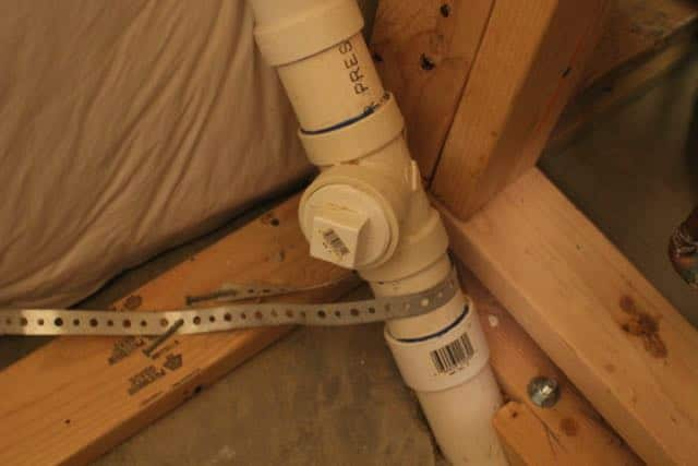 Clean outs can also be placed directly into piping.