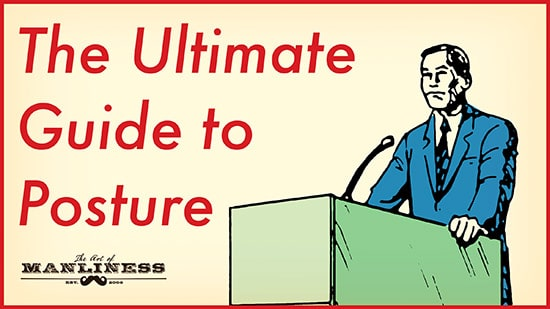 businessman at podium good posture illustration
