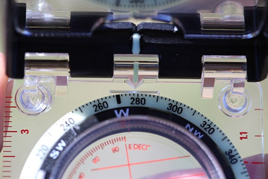 direction of travel bearing using a compass