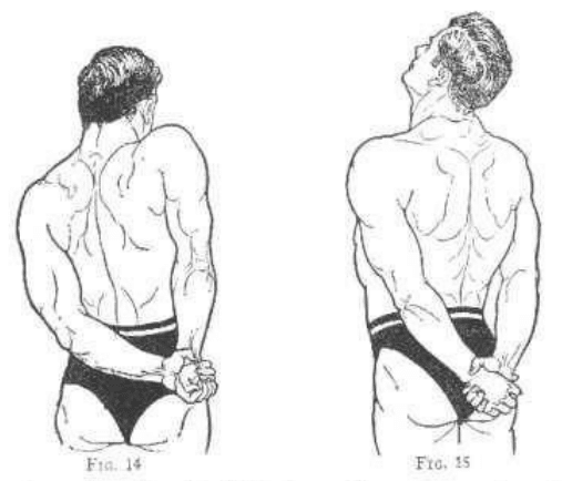 vintage oldtime strongman exercise shoulder shrugs illustration
