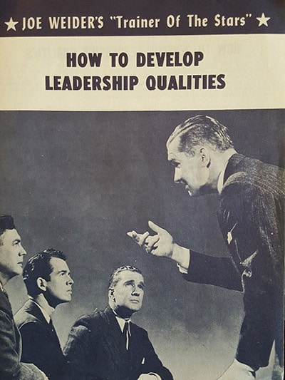 joe weider how to develop leadership qualities pamphlet