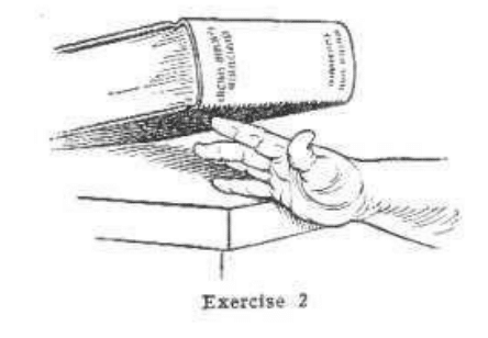 vintage oldtime strongman exercise finger lift illustration