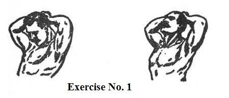vintage oldtime strongman exercise neck extension illustration
