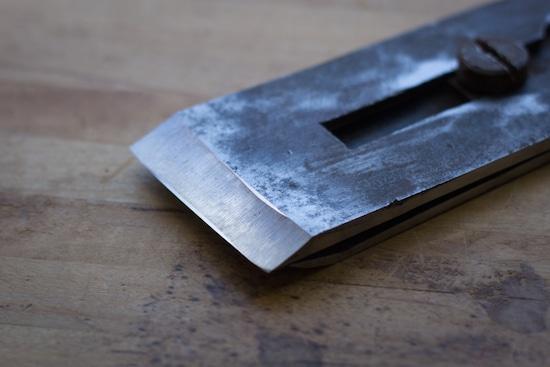 close up photo hand plane blade