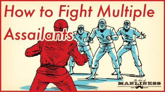 ninja fighting 3 enemies defend against multiple assailants
