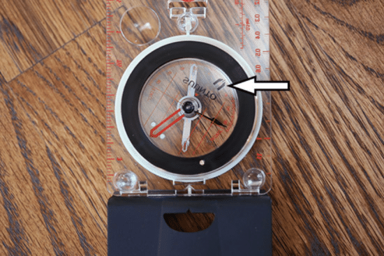 taking magnetic declination into account on compass