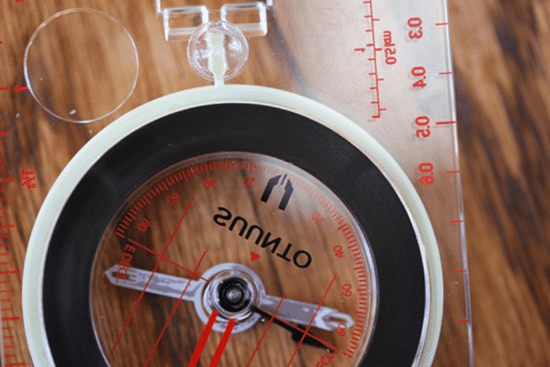 compass adjusted for magnetic declination