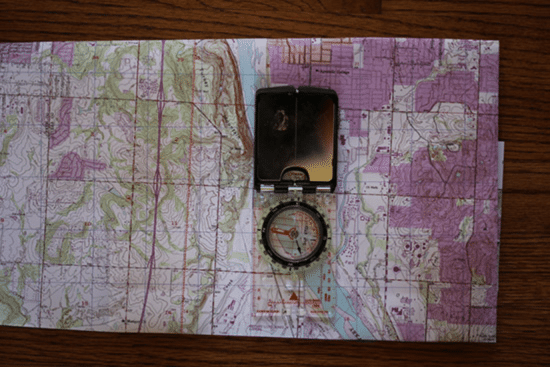 orienting with map and compass