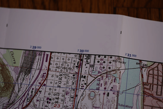 topo topographic map easting coordinates