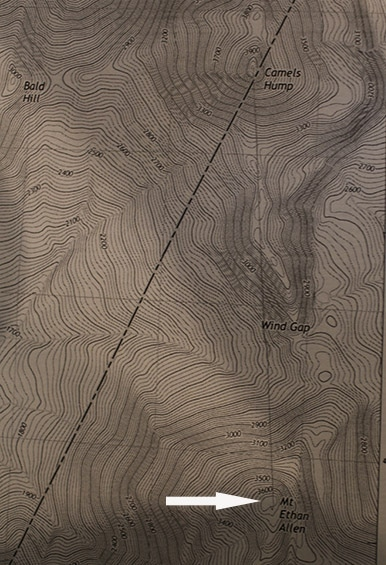 mt ethan allen topo topographic map