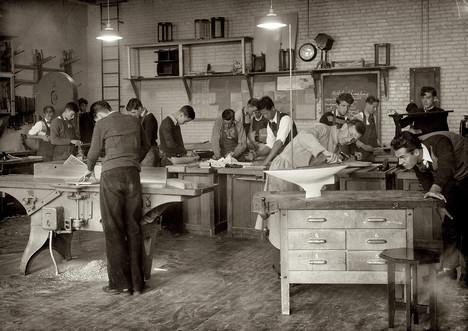 vintage wood shop class workshop