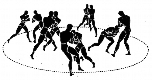 wwii strength and conditioning exercises ring push illustration