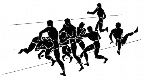 wwii strength and conditioning exercises line charging illustration