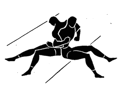 wwii strength and conditioning exercises back to back push illustration
