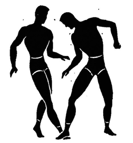 wwii strength and conditioning exercises step on toes illustration