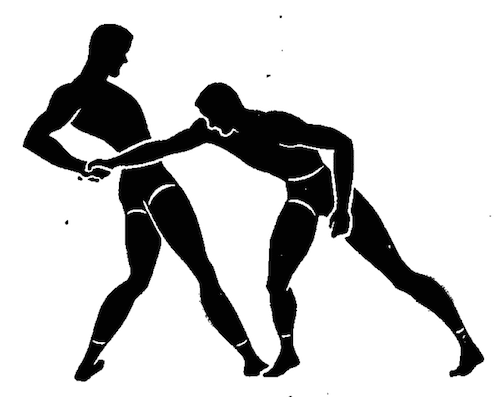 wwii strength and conditioning exercises hand wrestling illustration