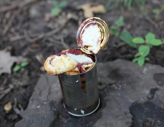 cobbler in a can campfire dessert
