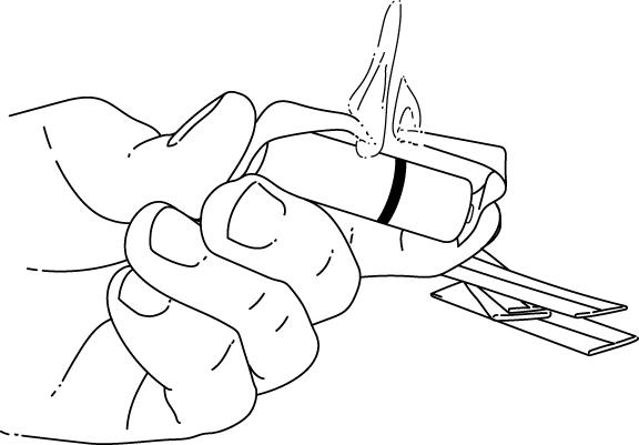 gum wrapper fire survival hack illustration
