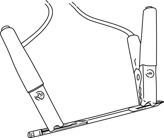 jumper cable pencil fire survival hack illustration
