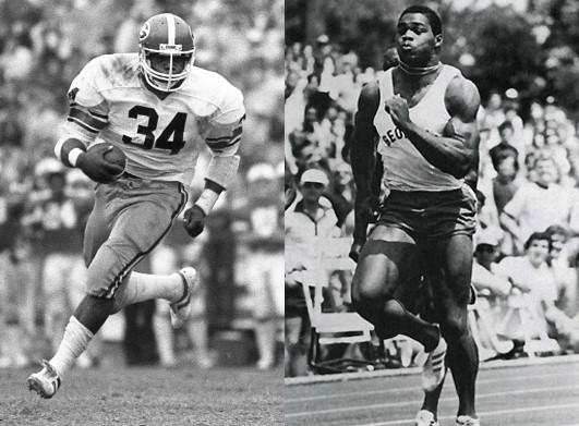 herschel walker georgia football track athlete