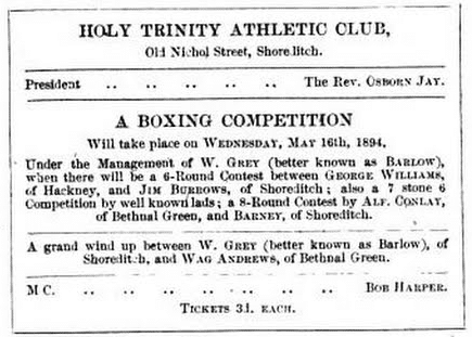 Vintage Boxing Competition Announcement Poster.