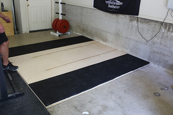 Placing and Adjusting the Mats.