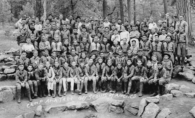 Vintage MC Scout Camp.