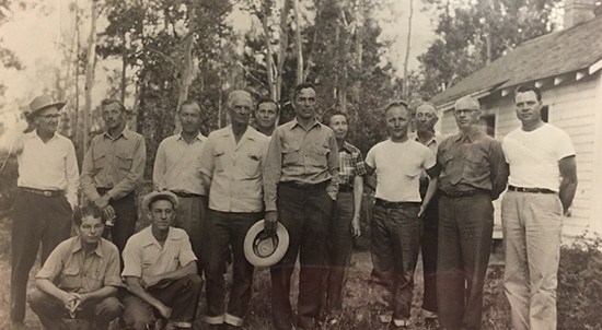 Vintage Staff Officer of Cache National Forest in Utah.
