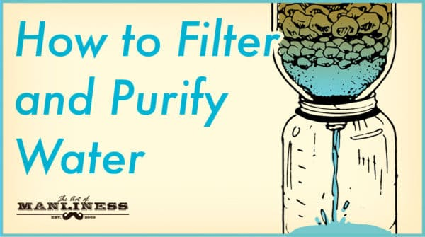 diy water filter in the wild illustration