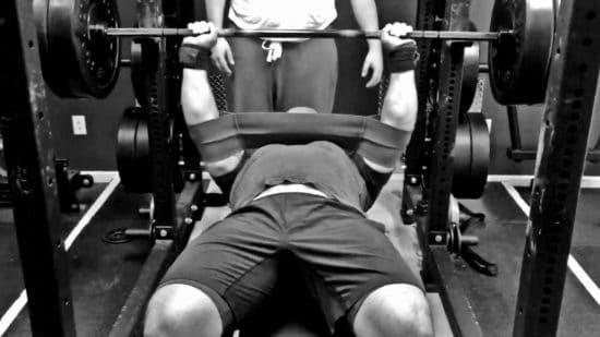 bench pressing with slingshot