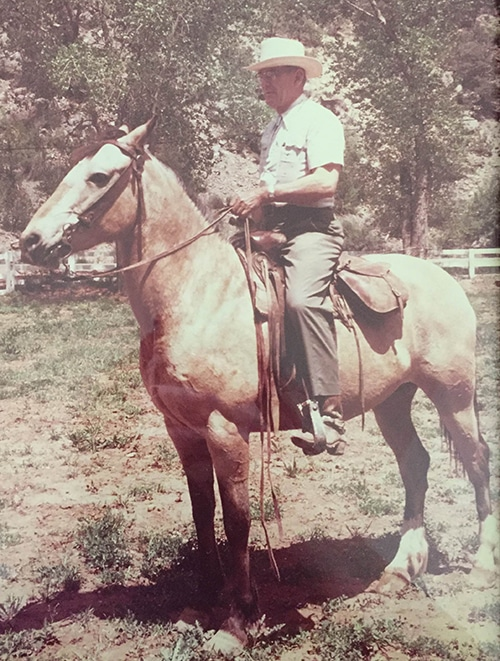 Vintage William M. riding horse.