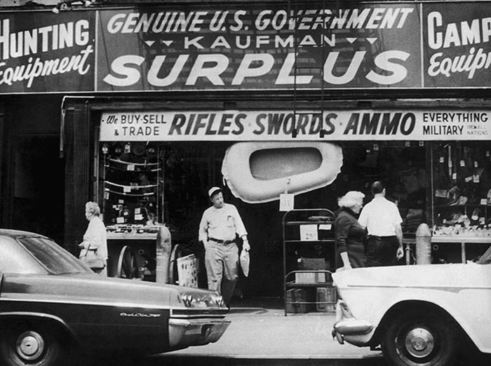 vintage army surplus store 1950s kaufman surplus