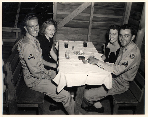 Vintage 1950's Soldiers on Double Date