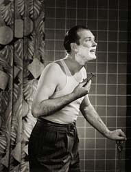 vintage safety razor shaving 1950s