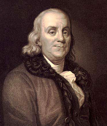 old benjamin franklin portrait painting