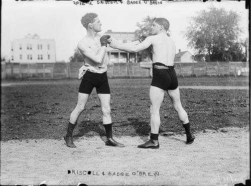 vintage boxers sparring