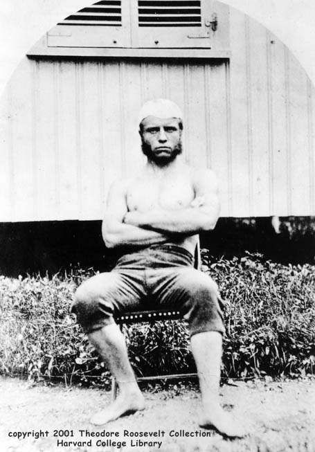 Teddy Roosevelt in college