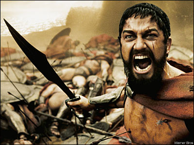 Gerard Butler in 300, Leonidas I - King of Sparta