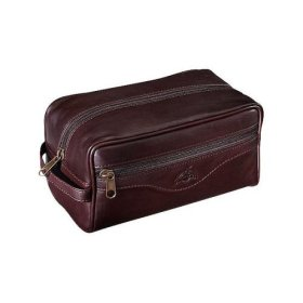 Classic leather dopp kit.
