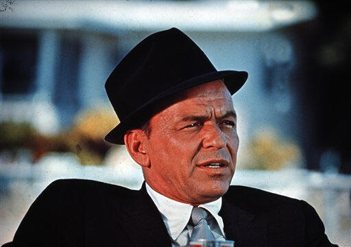 frank sinatra wearing hat angled