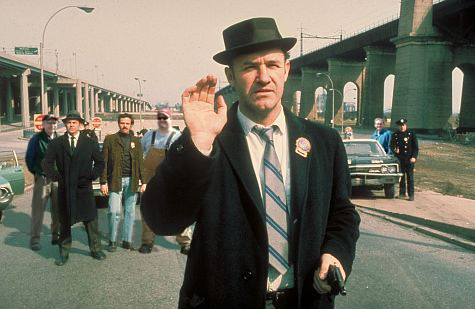 Gene Hackman wearing porkpie hat - french connection movie part.