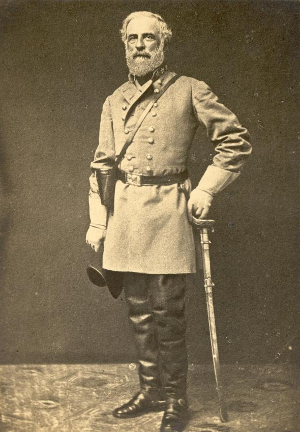 robert e lee standing portrait photo