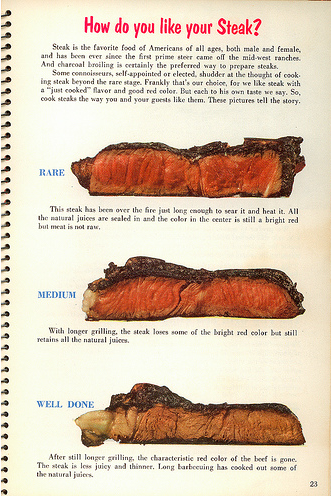 vintage steak ad - how done is steak