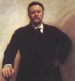 Theodore Roosevelt painting portrait.