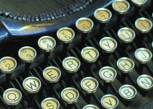 vintage typewriter keys qwerty