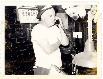 vintage man on telephone