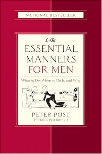 Book cover of Essential Manners for Men by Peter Post.