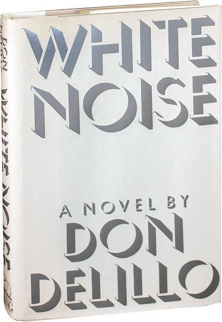 White noise by Don Delillo, book cover.