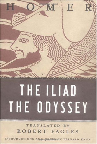 The Iliad and odyssey of homer, book cover.